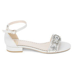 Aerin Silver -Bridal Shoes Pearl and Rhinestone