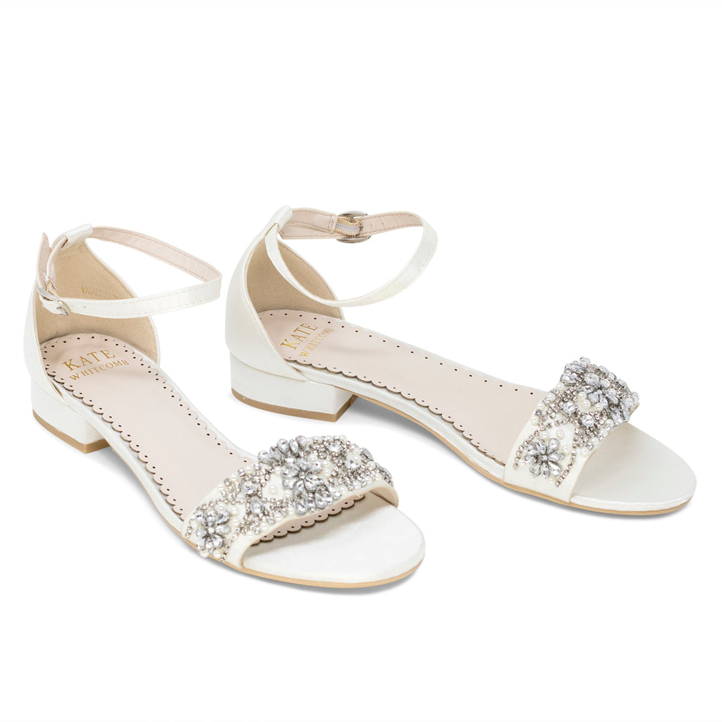 Aerin Ivory -Bridal Shoes Pearl and Rhinestone