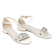 Wedding Shoes Flats - Aerin Ivory with Pearl and Rhinestone - Kate Whitcomb Shoes