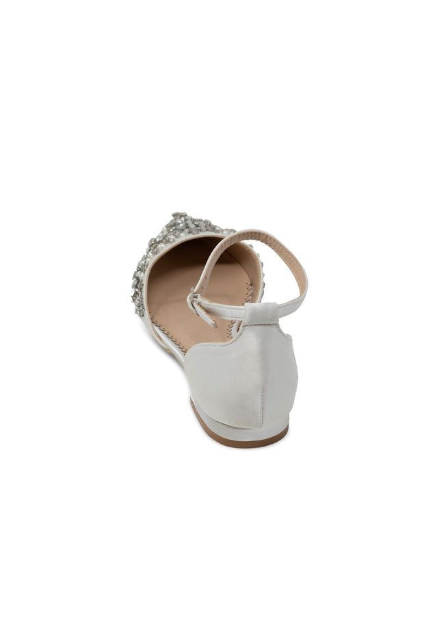 Madison Ivory -Bridal Shoes Pearl and Rhinestone - Kate Whitcomb Shoes