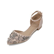 Madison Blush -Bridal Shoes Pearl and Rhinestone - Kate Whitcomb Shoes