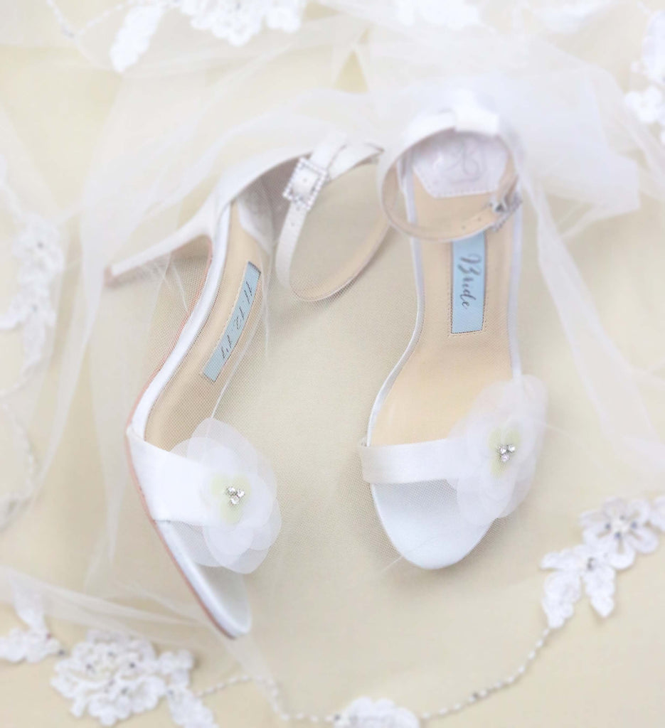 bridal shoes, wedding heels, bride flat, floral,high heel, rose, ivory, styled 4