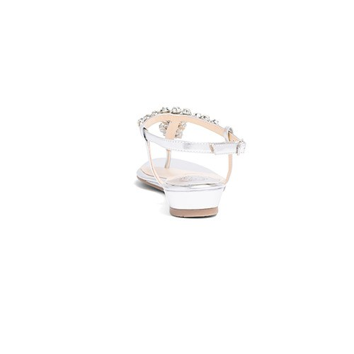 Bridal Flats Rhinestone Wedding Shoes - Bella Silver - Kate Whitcomb Shoes