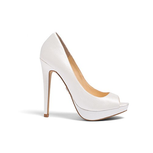 "Wedding Shoes - ""Aria"" Sandals in Ivory satin"