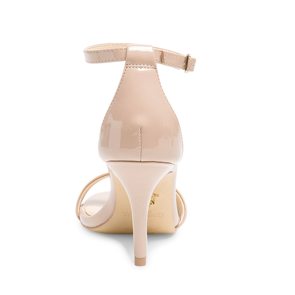Bridal Shoes Ankle Strap High Heels - Vera Champagne - Kate Whitcomb Shoes