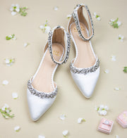 Megan Ivory -Bridal Shoes Rhinestone - Kate Whitcomb Shoes