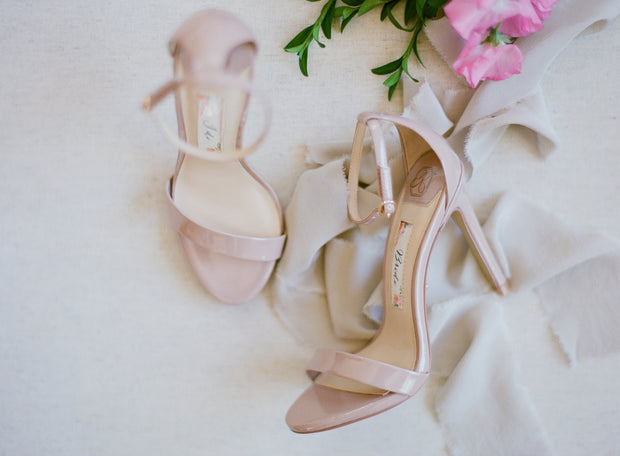 Bridal Shoes - Samantha Champagne (No Personalization) - Kate Whitcomb Shoes