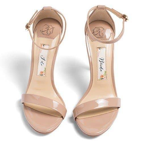 wedding shoes, nude wedding sandals, kate whitcomb shoe, samantha, nude heels, shoes for bride