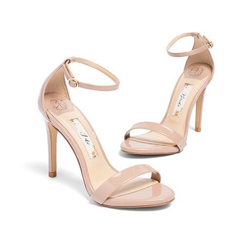 Gold High Heel Bridesmaid Name Champagne Party Wedding: Champagne Wedding Shoes, Blush Bridal Sandals, Comfortable