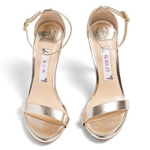 Bridal Shoes Ankle Strap High Heel - Samantha Gold - Kate Whitcomb Shoes