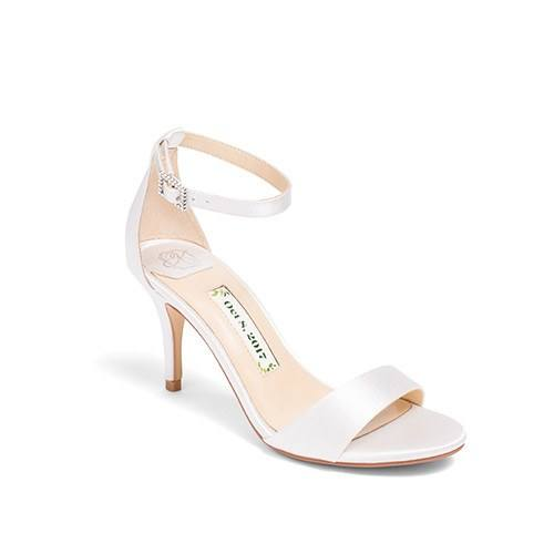 1bd73933602b ... Wedding Shoes Ankle Strap High Heels - Vera Ivory - Kate Whitcomb Shoes  ...