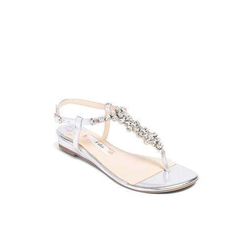 wedding flats, silver wedding sandals, rhinestone flat, kate whitcomb shoe, bella 3