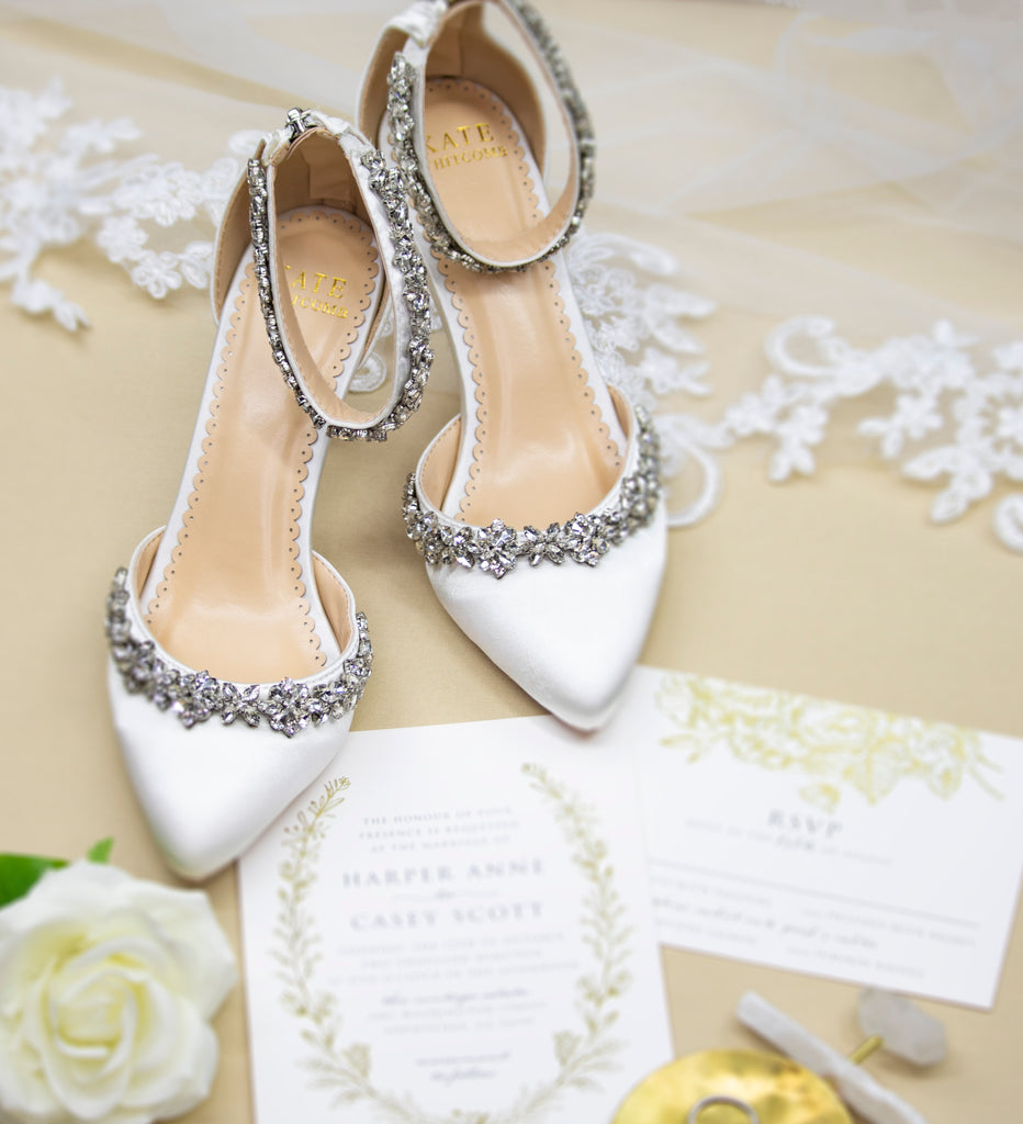 Wedding Shoes - Milly Ivory Bridal Heels