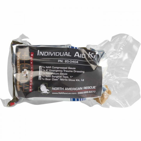 NORTH AMERICAN RESCUE- INDIVIDUAL AID KIT