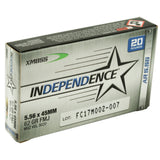 INDEPENDENCE- M855I 62GR FMJ 20RD BOX