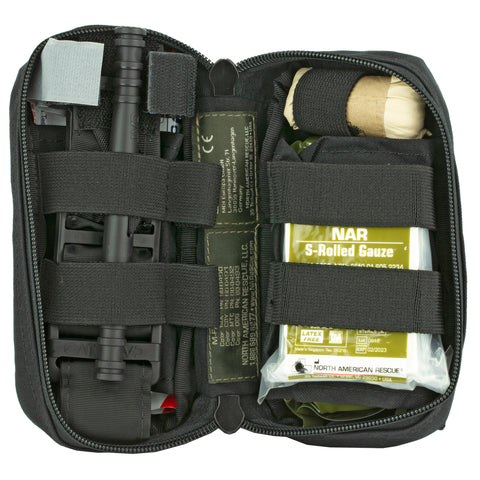 NORTH AMERICAN RESCUE- M-FAK MINI FIRST AID LE KIT BLK