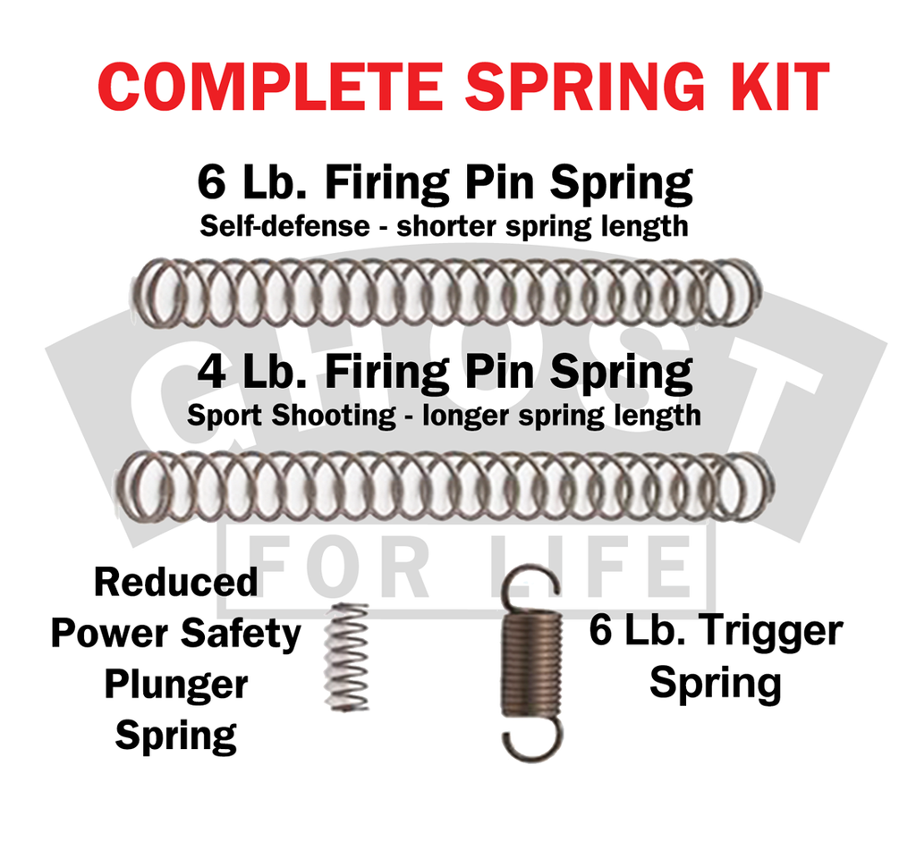 GHOST INC- COMPLETE SPRING KIT FOR GLOCK