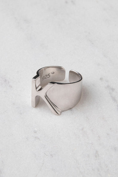 The Alphabet Ring silver