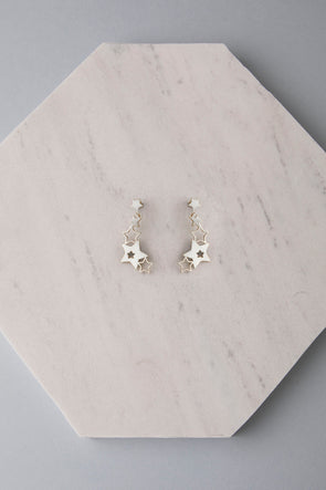 Hugging Stars silver earrings