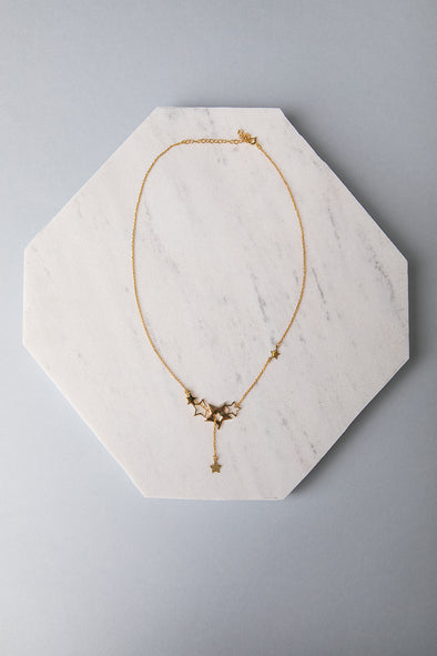 Hugging Stars necklace gold-plated