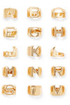 The Alphabet Ring gold-plated