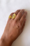 Armour ring set gold