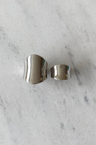Armour ring set silver