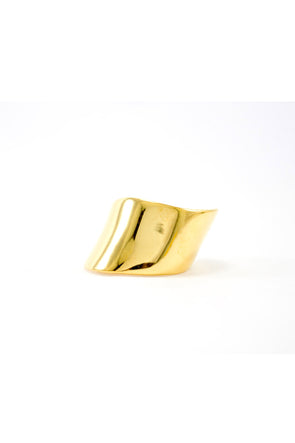 Curvy ring gold chevalier