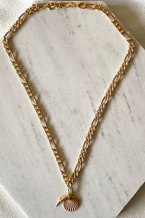 Lightning bolt thick chain necklace