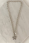 Starfish thick chain silver necklace