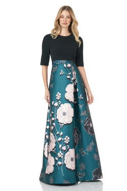Teal Poppy Floral