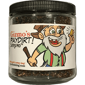 Gizmo's PayDirt Supremo Jar - At Least 1 Gram of Gold + Gems