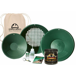 Lynch Mining Starter Panning Kit Backpack + Black Label Paydirt™ - Jar