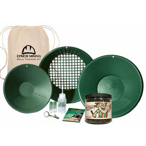 Lynch Mining Starter Panning Kit Backpack + Gizmo's Supremo Paydirt - Jar