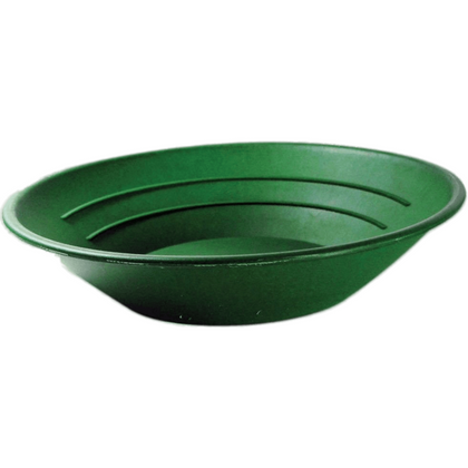 "SE GP1001G 10"" Green Plastic Gold Pan"