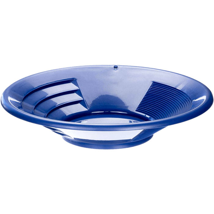 "SE GP1014BL14 14"" Blue Plastic Gold Pan"