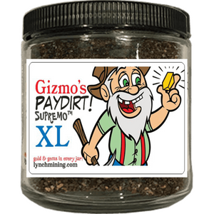 Gizmo's PayDirt Supremo XL Jar - At Least 2 Grams of Gold + Gems