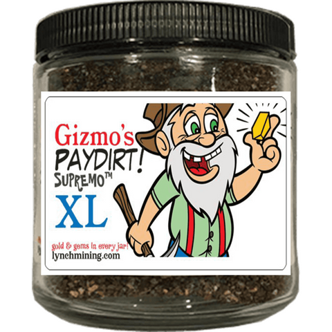 Gizmo's PayDirt Supremo XL™ Jar - At Least 2 Grams of Gold + Gems