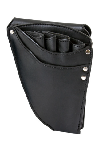 BLACK LEATHER SCISSOR HOLSTER