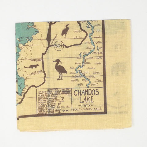 Chandos Lake Vintage Tea Towel