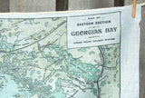 Georgian Bay Vintage Map Tea Towel