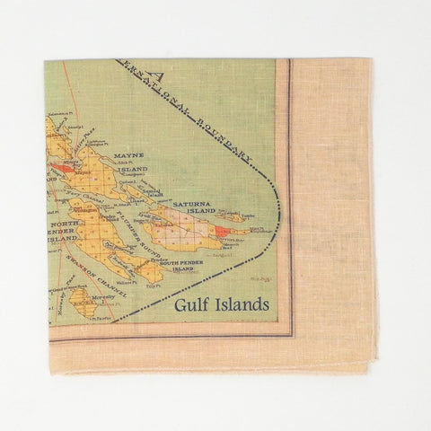 Gulf Islands/Saltspring Island  Vintage Tea Towel