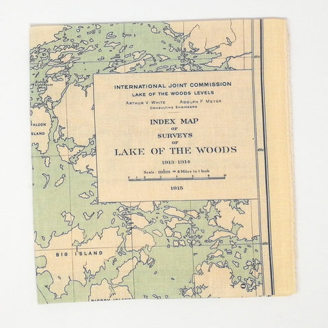 Lake of the Woods Vintage Map Tea Towel