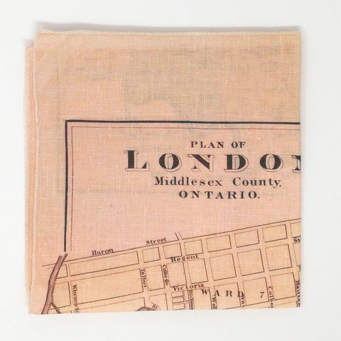 City of London Ontario Vintage Tea Towel