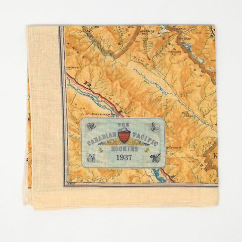 Rocky Mountains Vintage Tea Towel