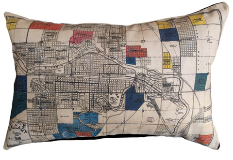 Calgary Vintage Map Pillow