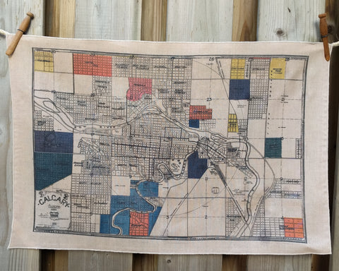 Calgary Vintage Map Tea Towel