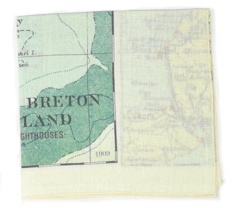 Cape Breton Vintage Map Tea Towel