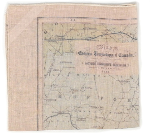 Eastern Townships Vintage Map Tea Towel