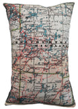 Haliburton Highlands Vintage Map Pillow